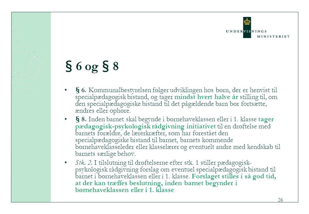 § 6 og § 8