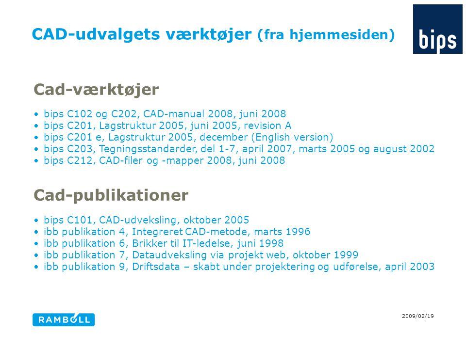 CAD-udvalgets værktøjer (fra hjemmesiden)