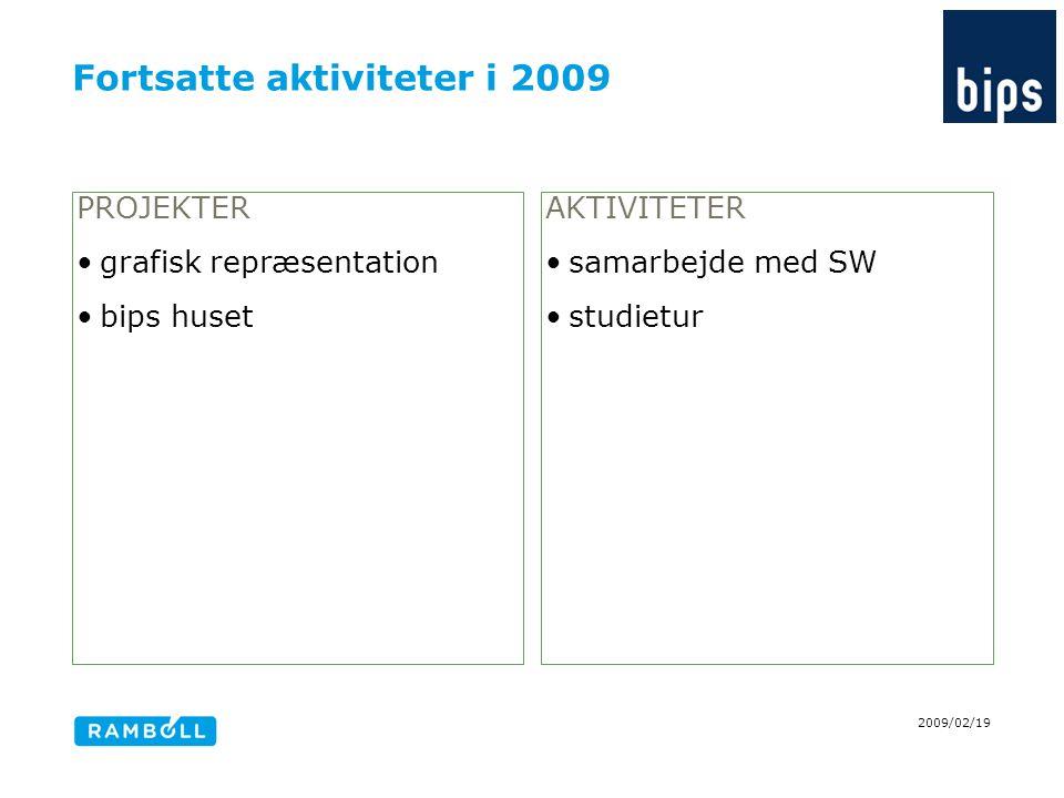 Fortsatte aktiviteter i 2009