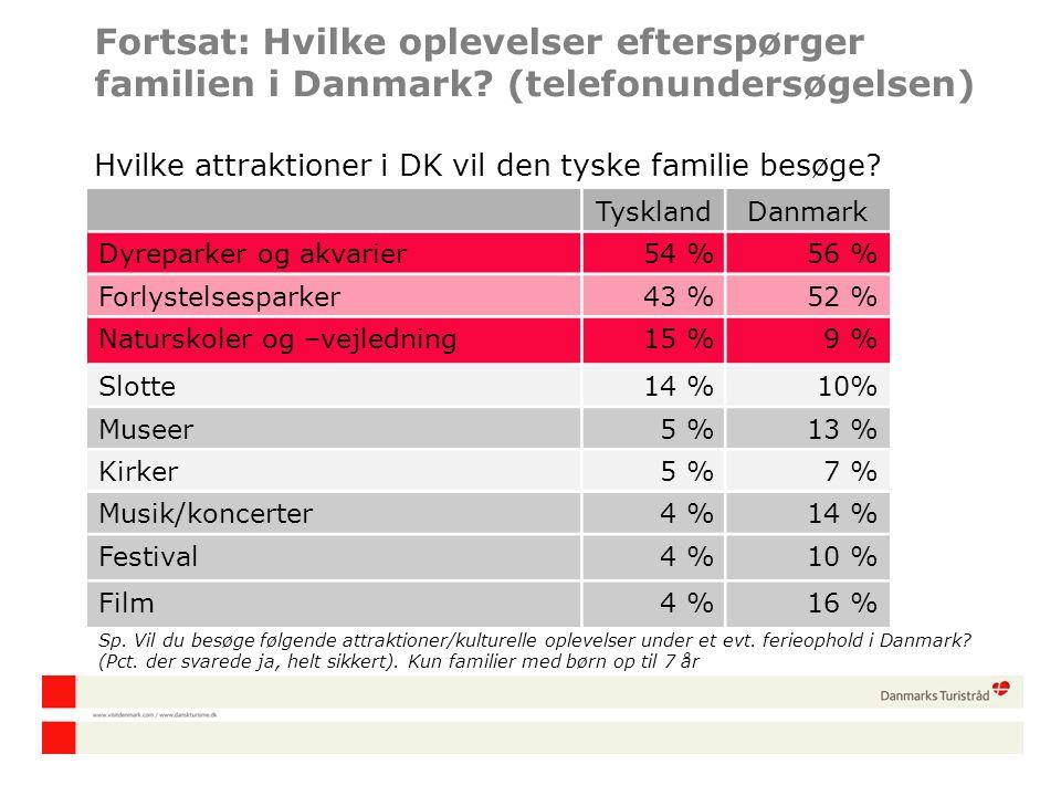 Fortsat: Hvilke oplevelser efterspørger familien i Danmark