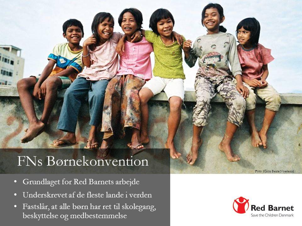 FNs Børnekonvention Grundlaget for Red Barnets arbejde