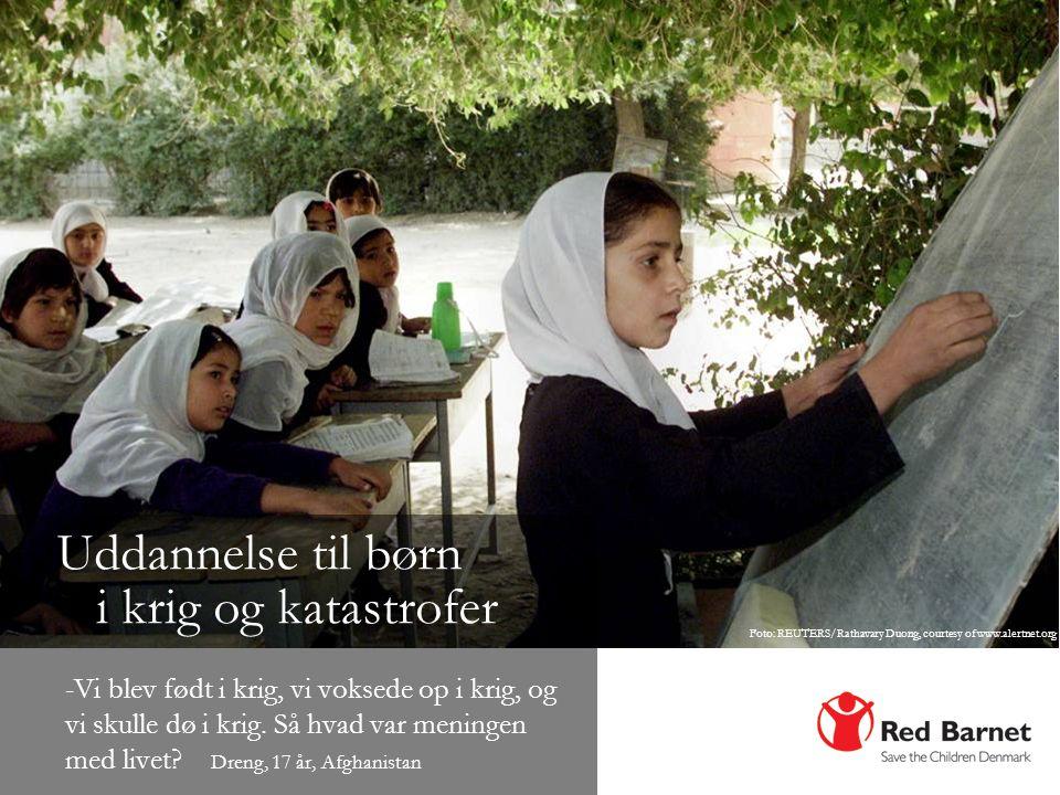 Uddannelse til børn i krig og katastrofer