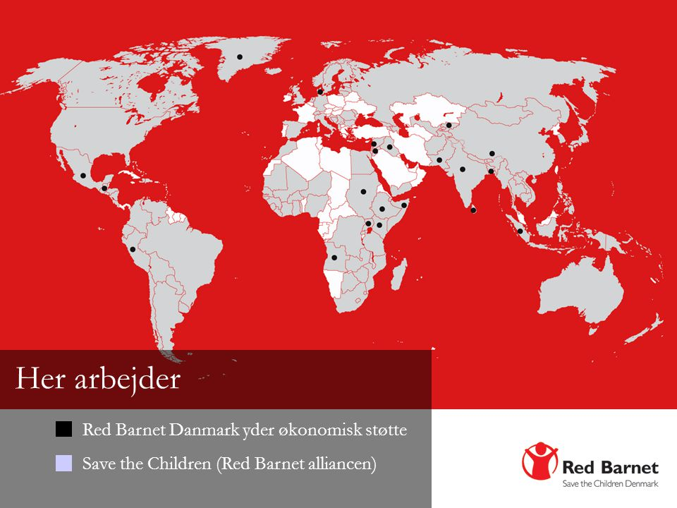 Her arbejder Red Barnet Danmark yder økonomisk støtte