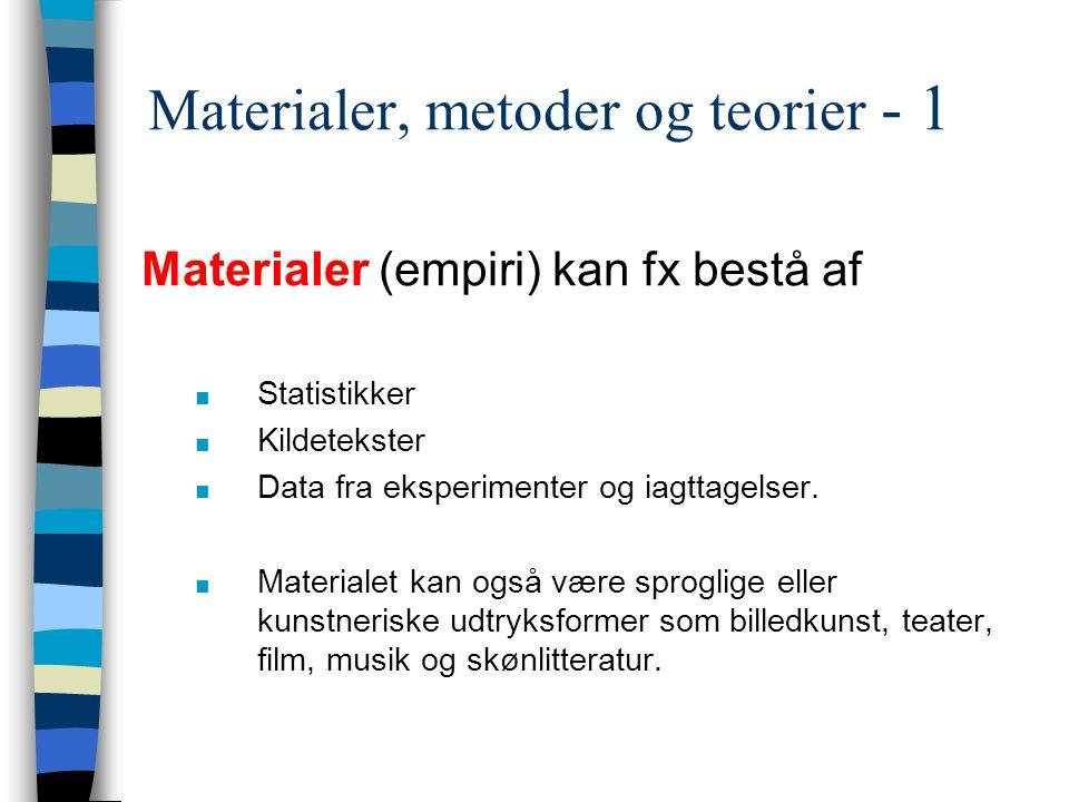 Materialer, metoder og teorier - 1