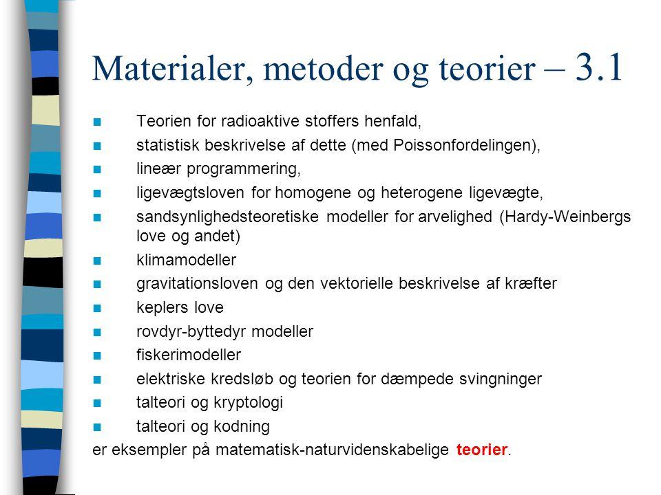 Materialer, metoder og teorier – 3.1