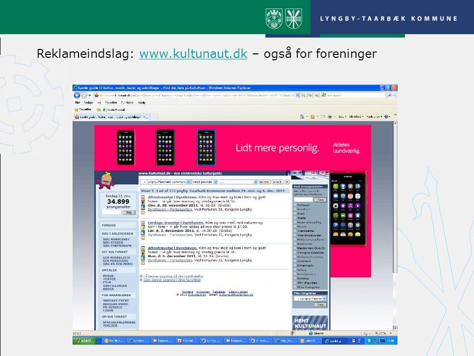 Reklameindslag: www.kultunaut.dk – også for foreninger