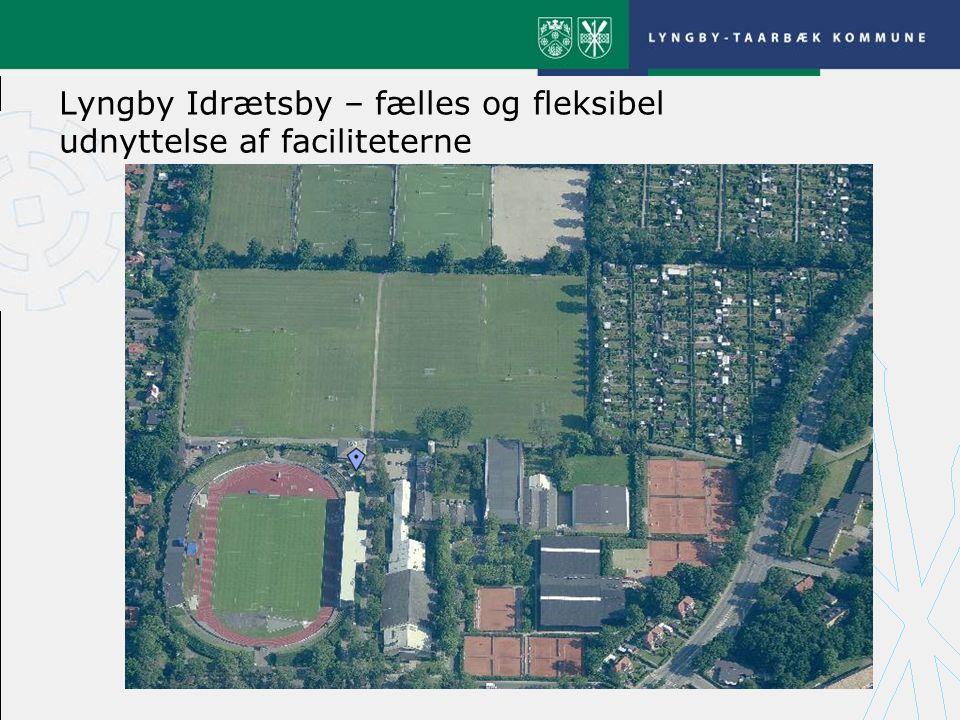 Lyngby Idrætsby – fælles og fleksibel udnyttelse af faciliteterne