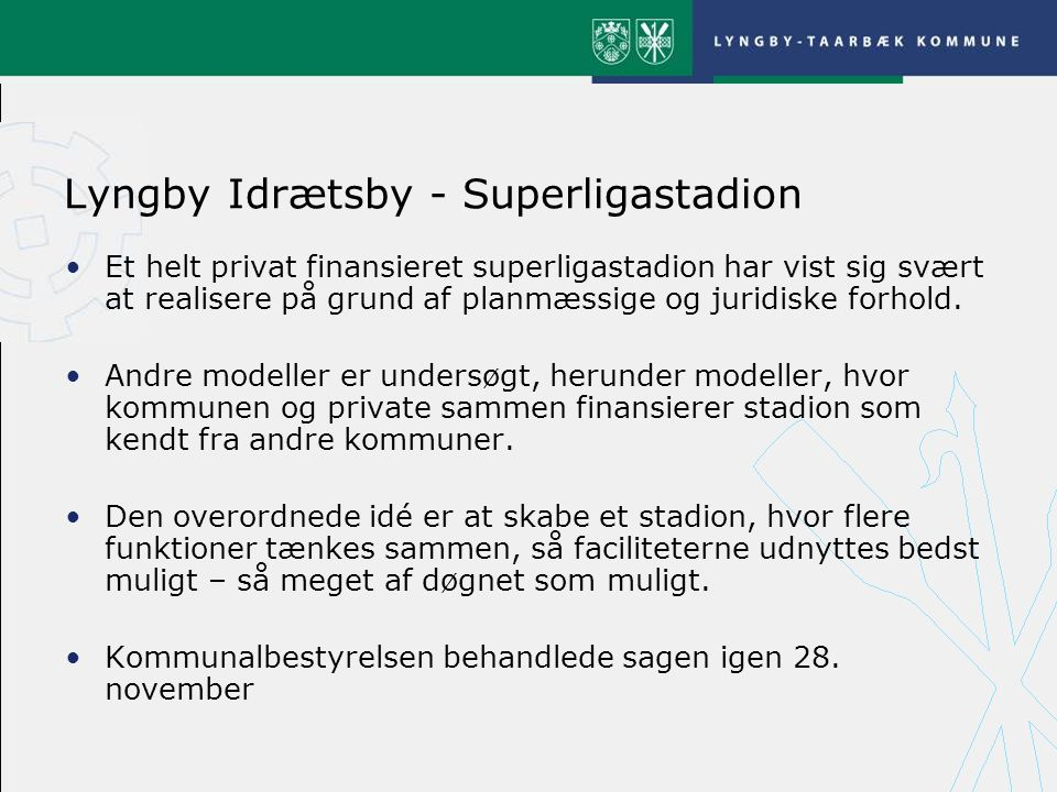 Lyngby Idrætsby - Superligastadion