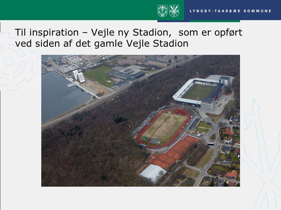 Til inspiration – Vejle ny Stadion, som er opført ved siden af det gamle Vejle Stadion