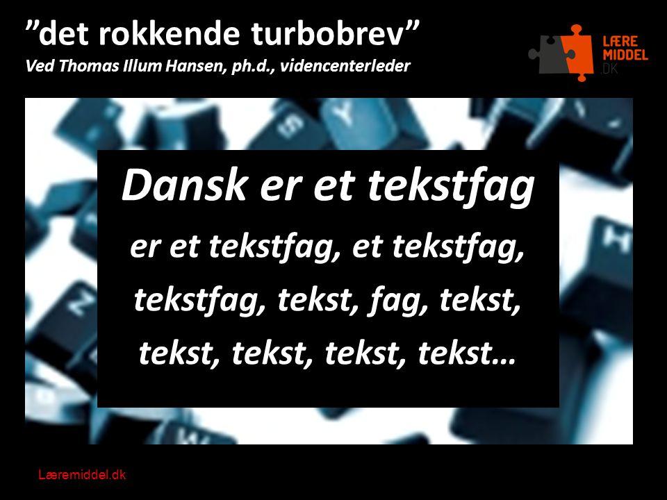 det rokkende turbobrev Ved Thomas Illum Hansen, ph. d