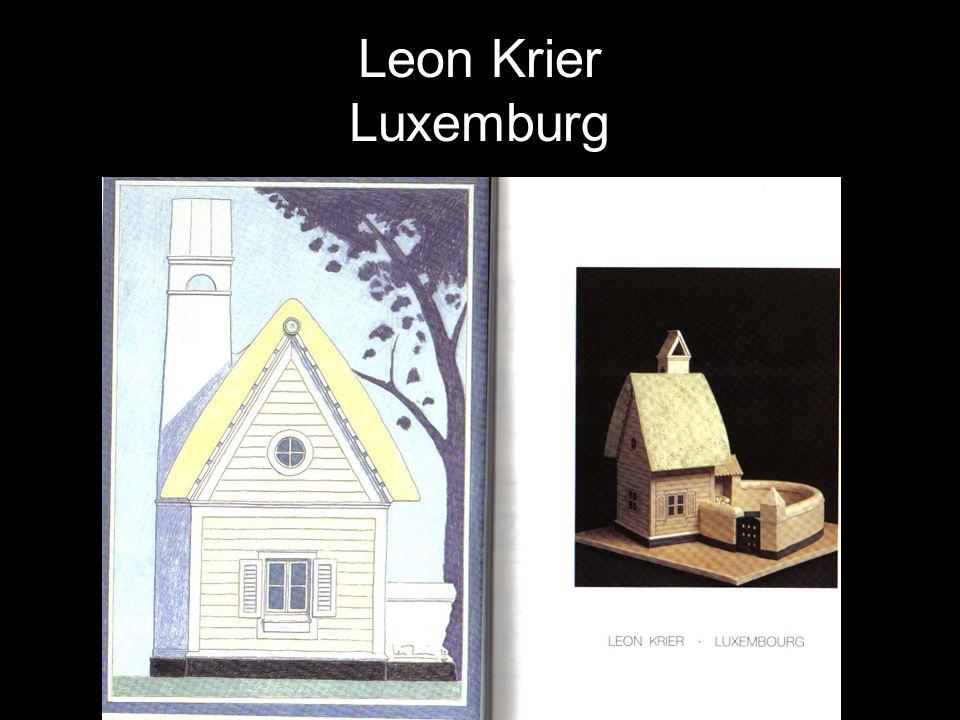 Leon Krier Luxemburg