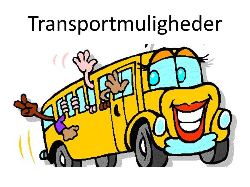 Transportmuligheder Et tog + flere busser.