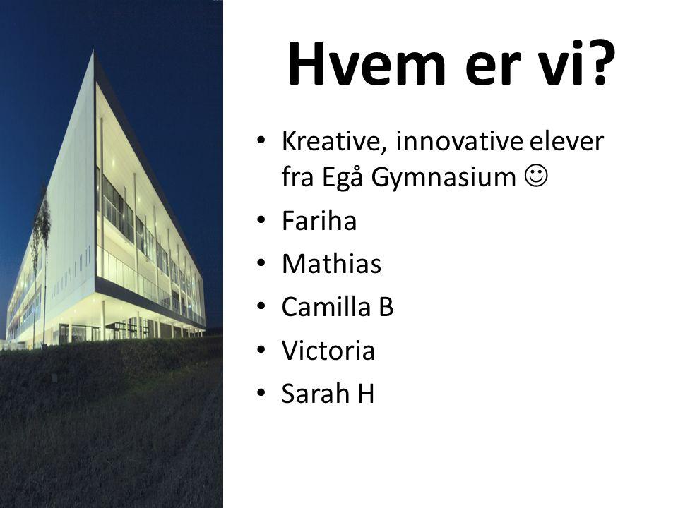 Hvem er vi Kreative, innovative elever fra Egå Gymnasium  Fariha