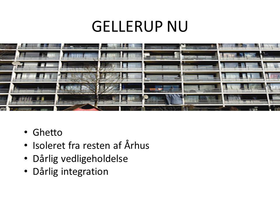 GELLERUP NU Ghetto Isoleret fra resten af Århus Dårlig vedligeholdelse