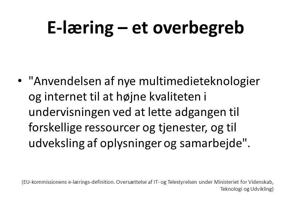 E-læring – et overbegreb