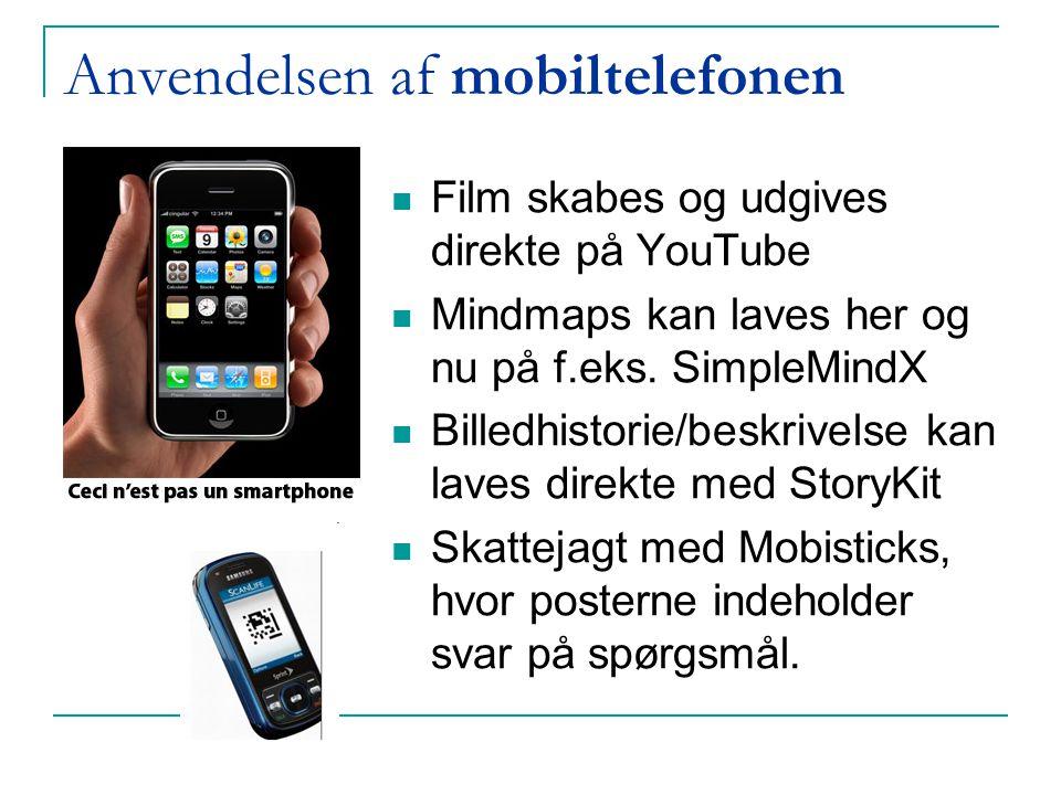 Anvendelsen af mobiltelefonen