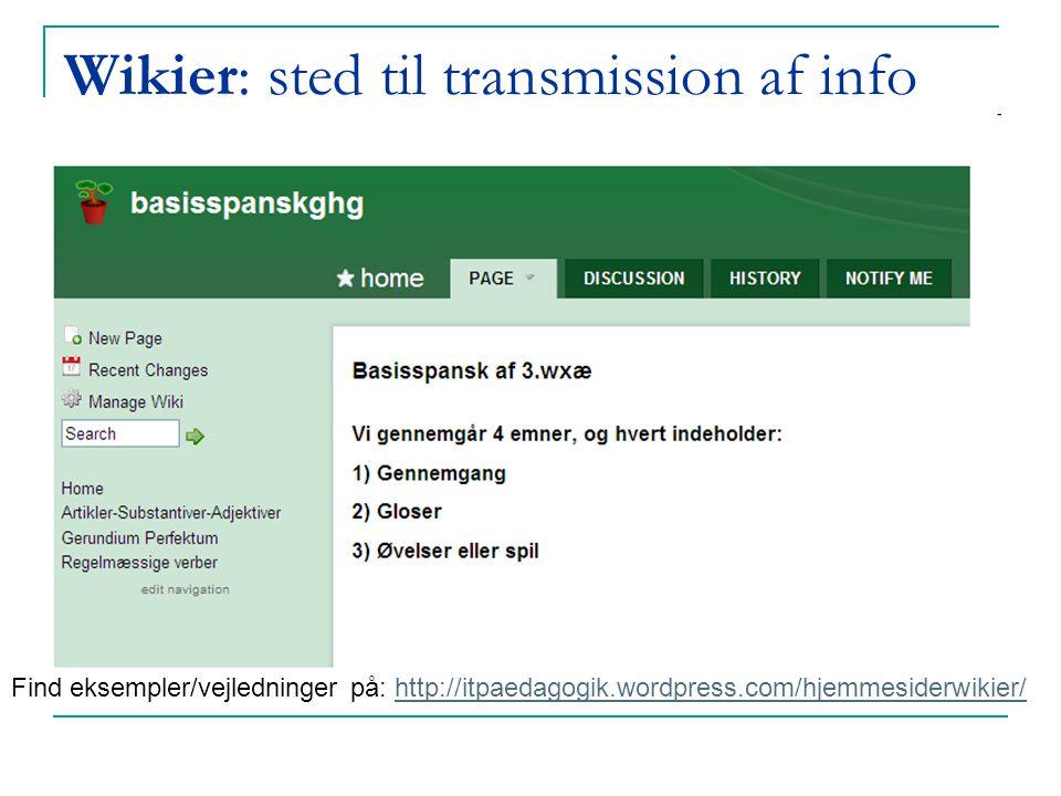 Wikier: sted til transmission af info