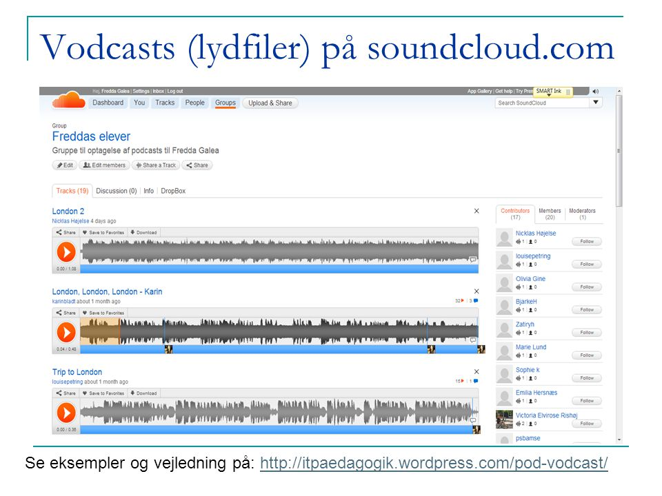Vodcasts (lydfiler) på soundcloud.com