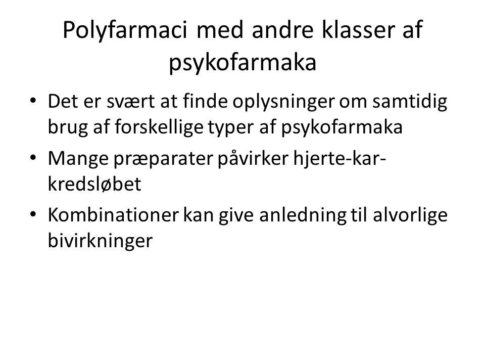 Polyfarmaci med andre klasser af psykofarmaka