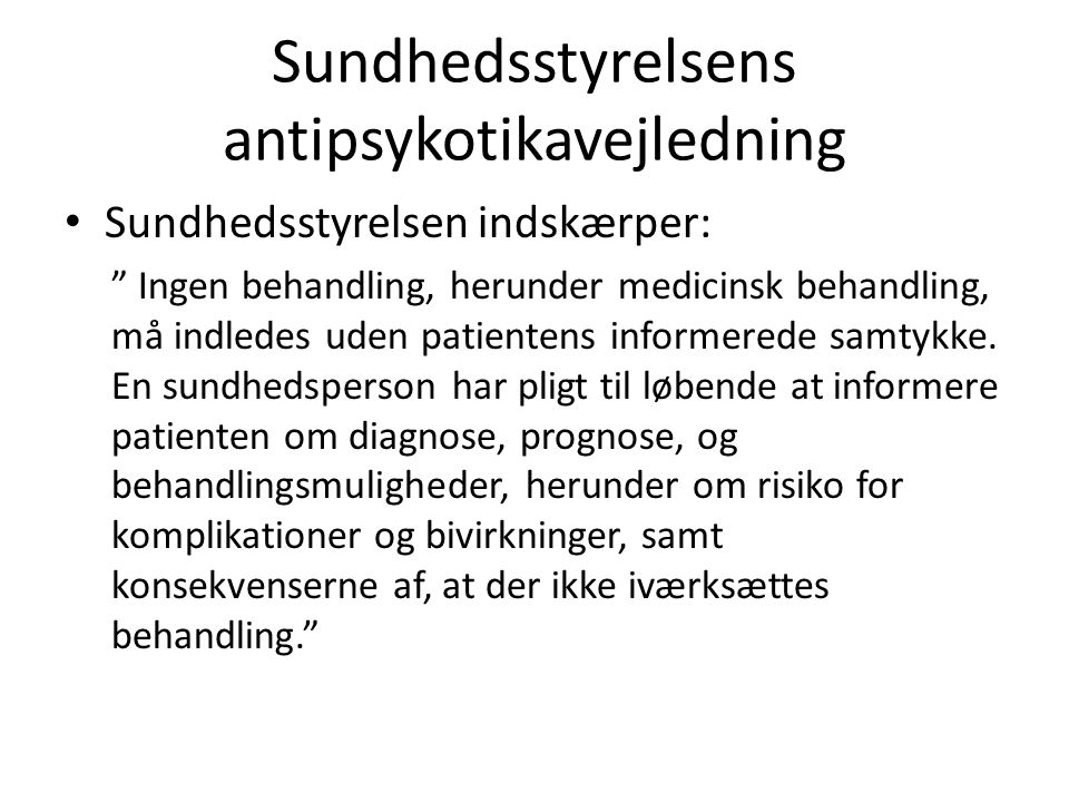 Sundhedsstyrelsens antipsykotikavejledning
