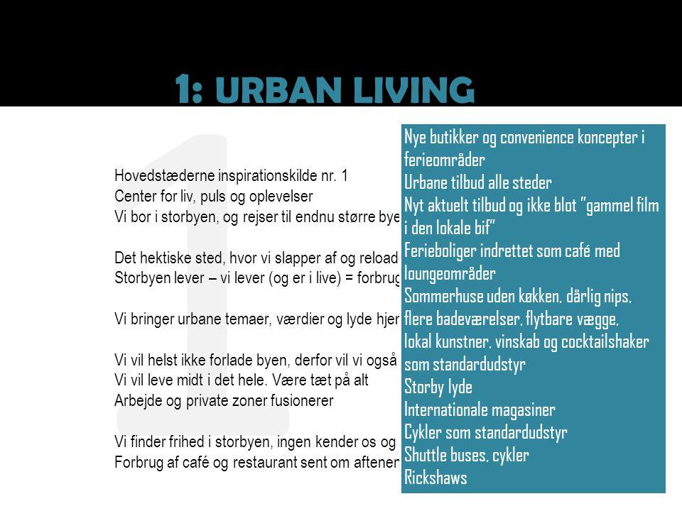 1 1: URBAN LIVING Nye butikker og convenience koncepter i ferieområder