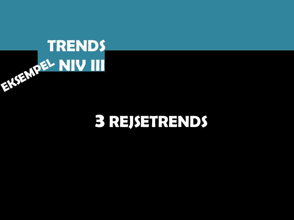 TRENDS NIV III EKSEMPEL 3 REJSETRENDS