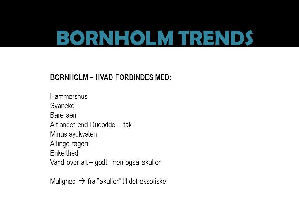 BORNHOLM TRENDS BORNHOLM – HVAD FORBINDES MED: Hammershus Svaneke
