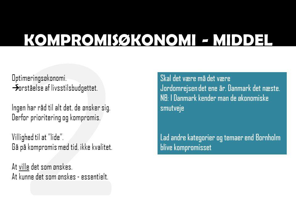 2 KOMPROMISØKONOMI - MIDDEL Optimeringsøkonomi.