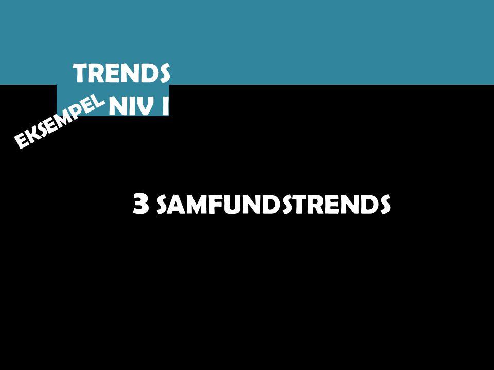 TRENDS NIV I EKSEMPEL 3 SAMFUNDSTRENDS