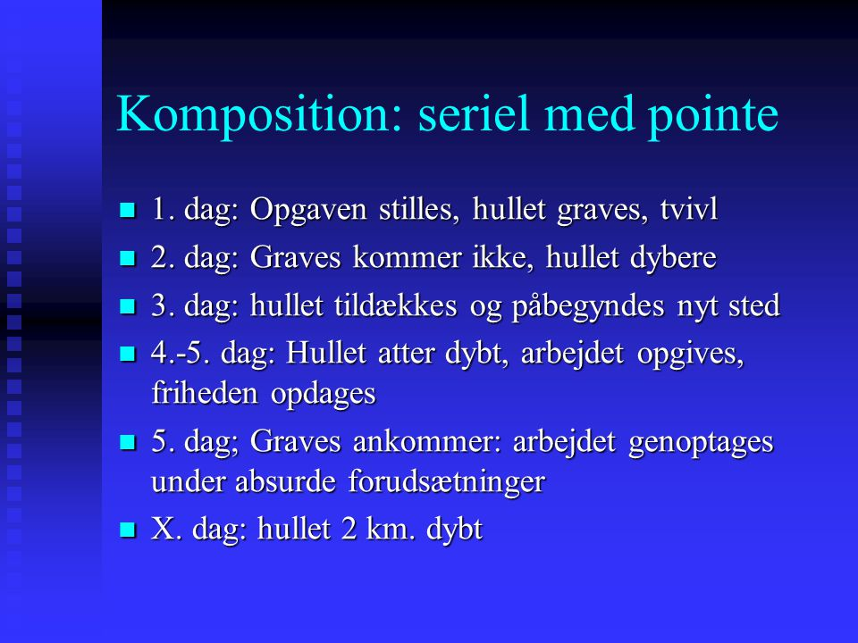 Komposition: seriel med pointe