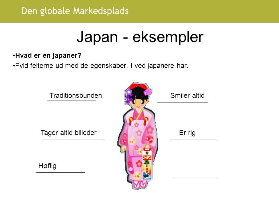Japan - eksempler Hvad er en japaner