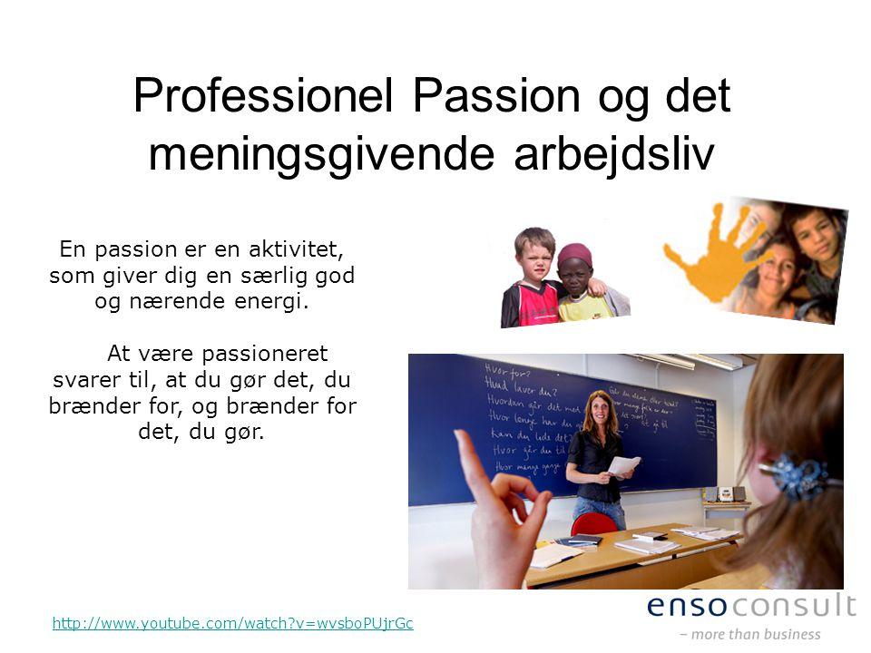 Professionel Passion og det meningsgivende arbejdsliv