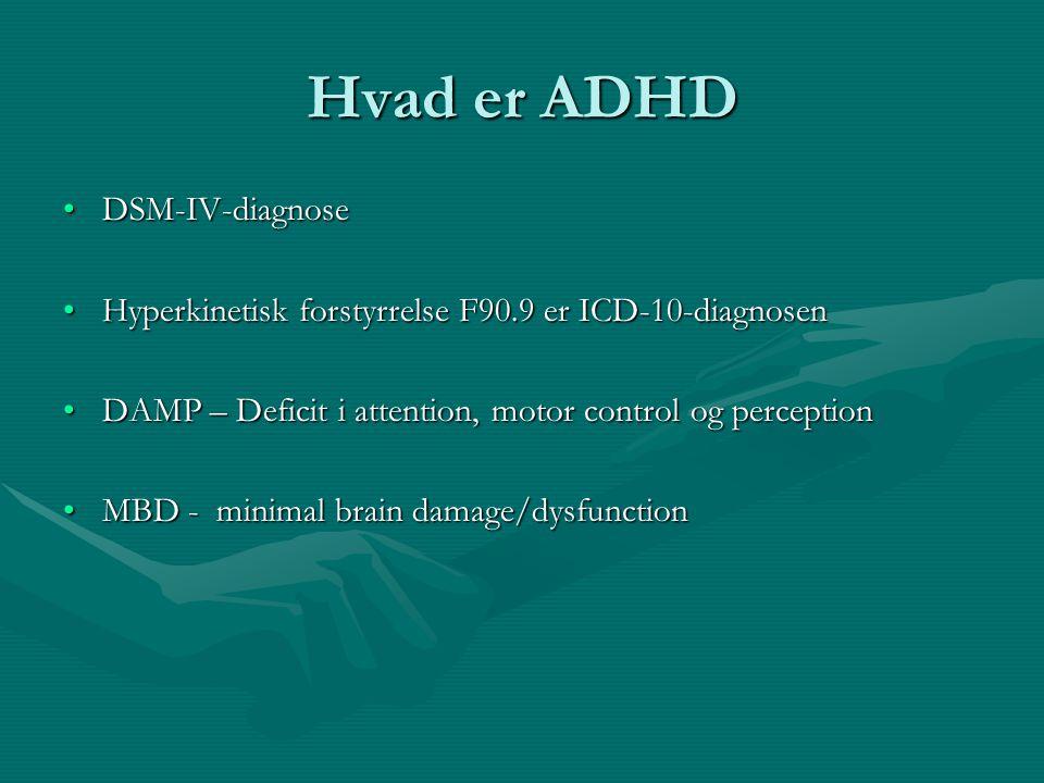 Hvad er ADHD DSM-IV-diagnose