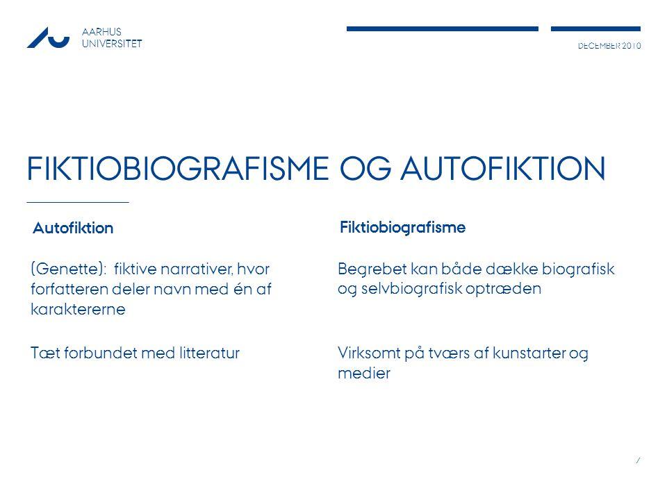 Fiktiobiografisme og autofiktion
