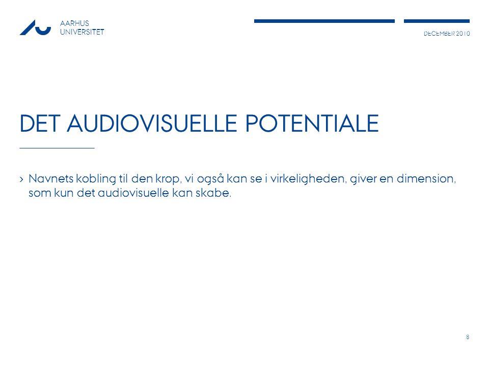 Det audiovisuelle potentiale