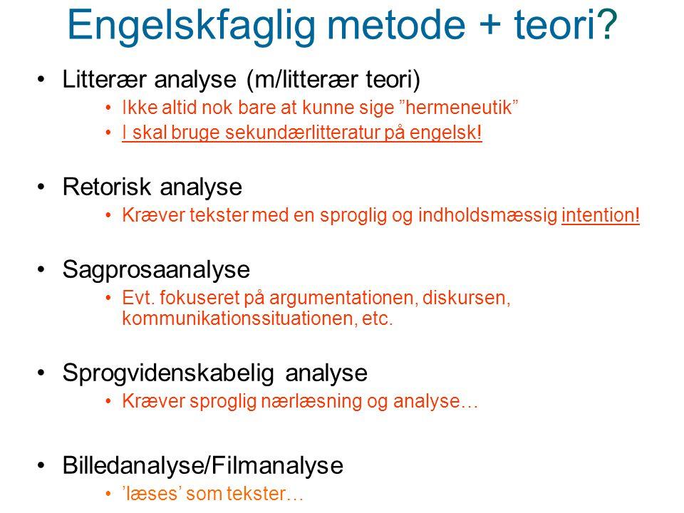 Engelskfaglig metode + teori