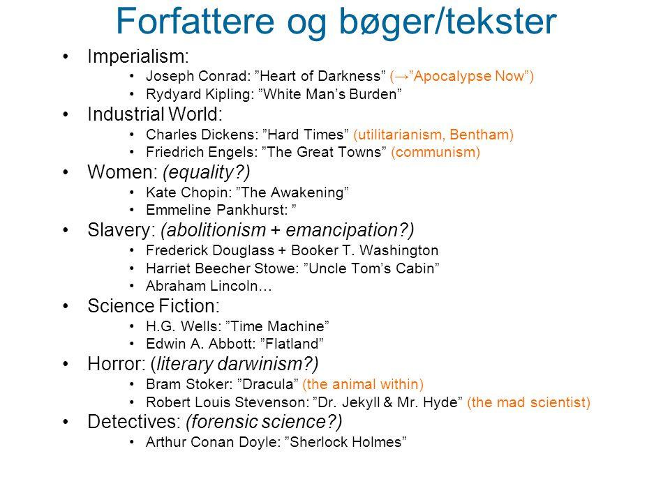 Forfattere og bøger/tekster