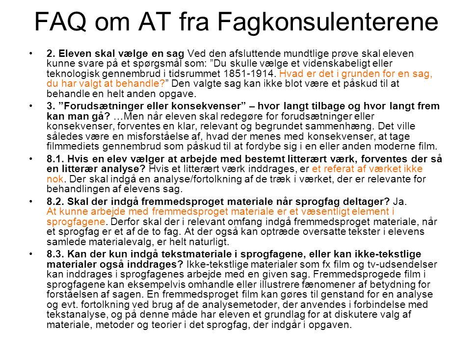 FAQ om AT fra Fagkonsulenterene
