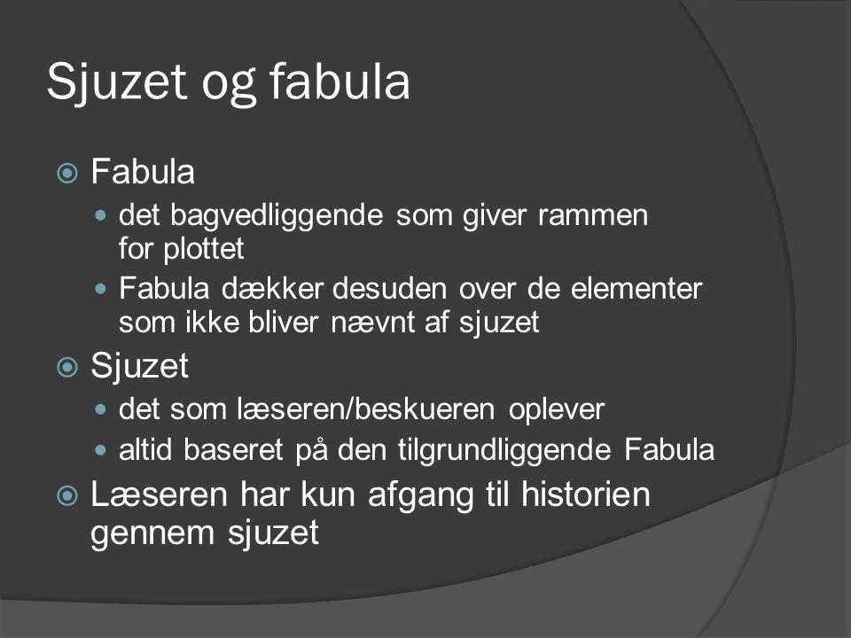 Sjuzet og fabula Fabula Sjuzet