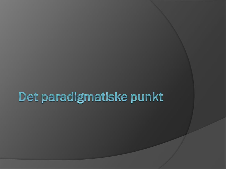Det paradigmatiske punkt
