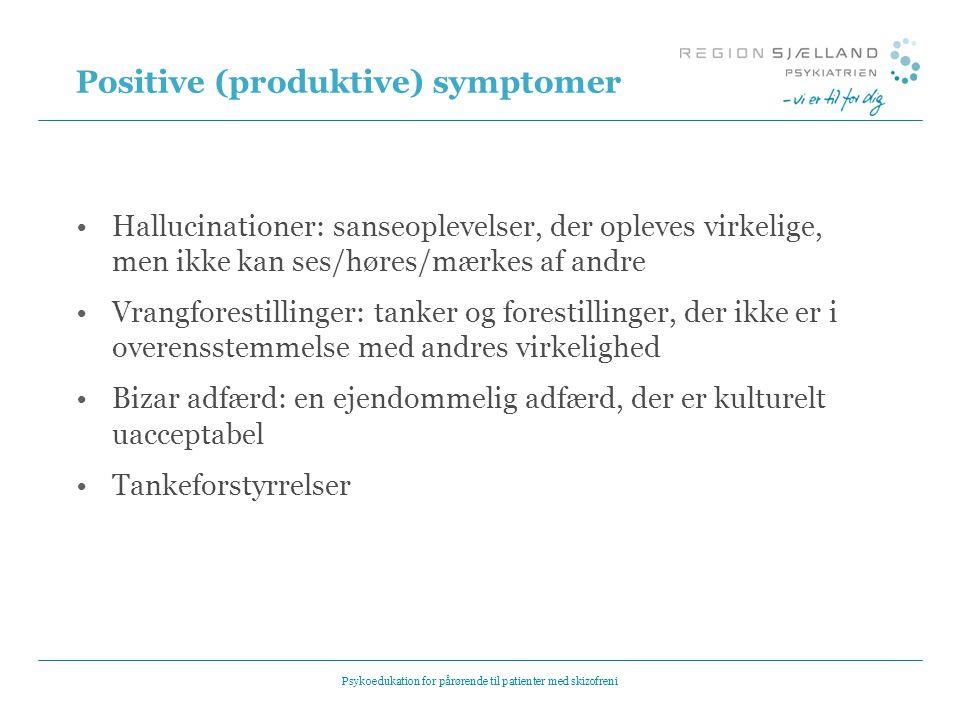 Positive (produktive) symptomer