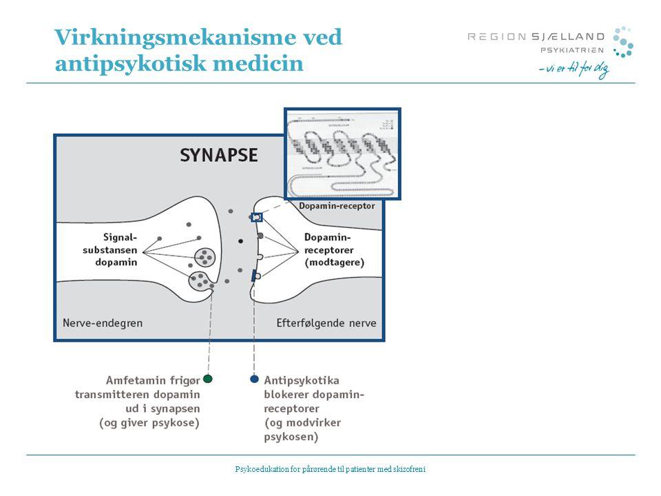 Virkningsmekanisme ved antipsykotisk medicin