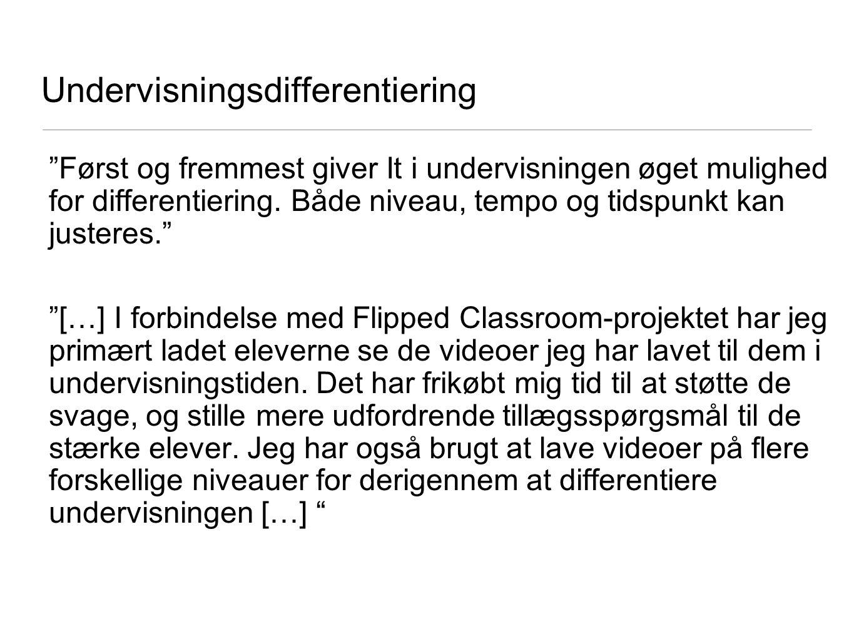 Undervisningsdifferentiering