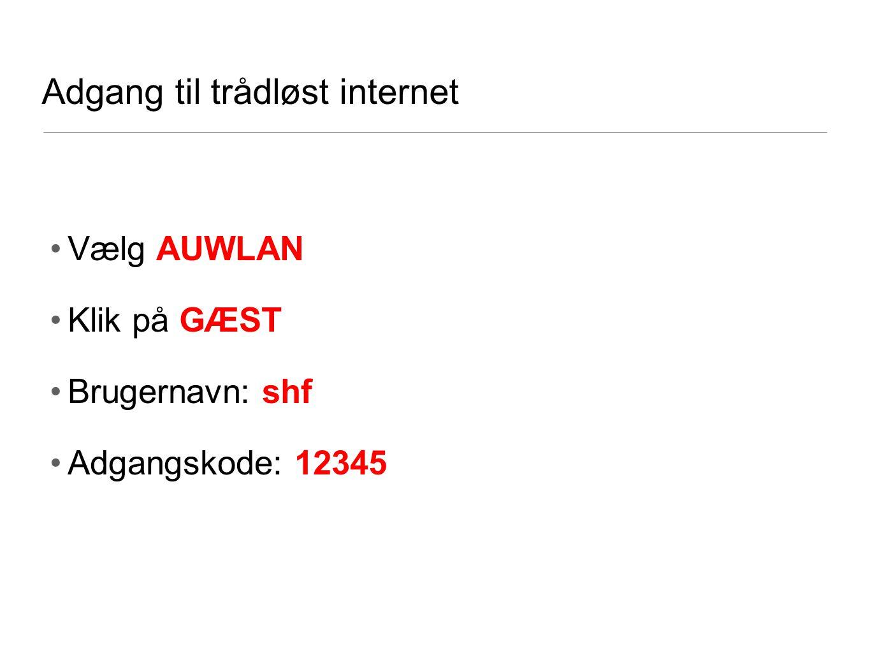 Adgang til trådløst internet
