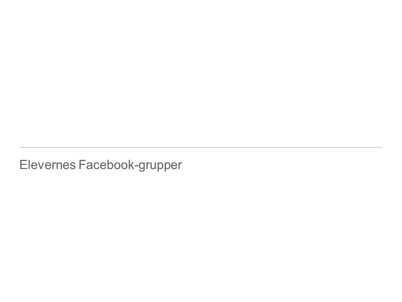 Elevernes Facebook-grupper