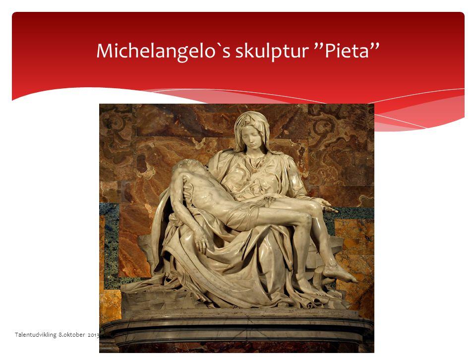 Michelangelo`s skulptur Pieta