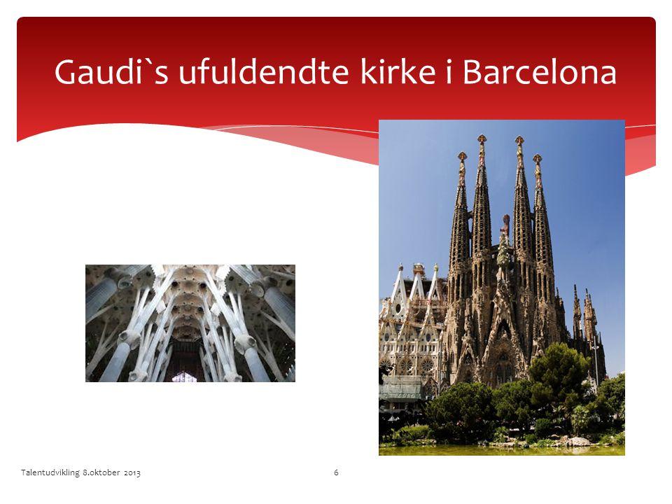 Gaudi`s ufuldendte kirke i Barcelona