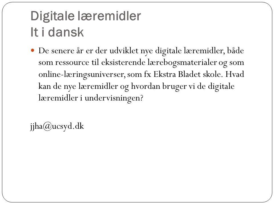 Digitale læremidler It i dansk