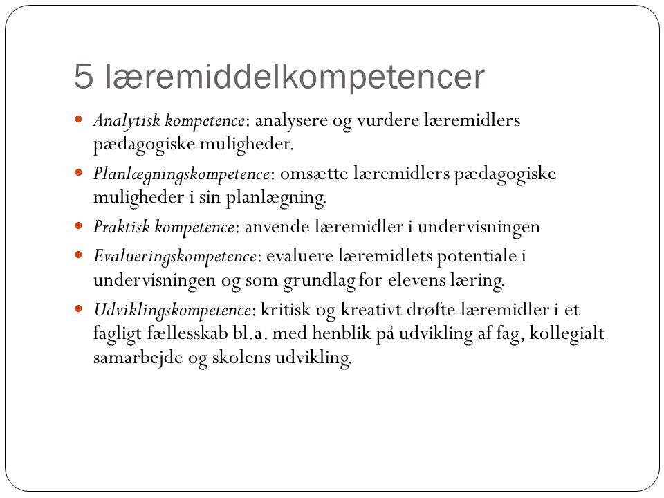 5 læremiddelkompetencer