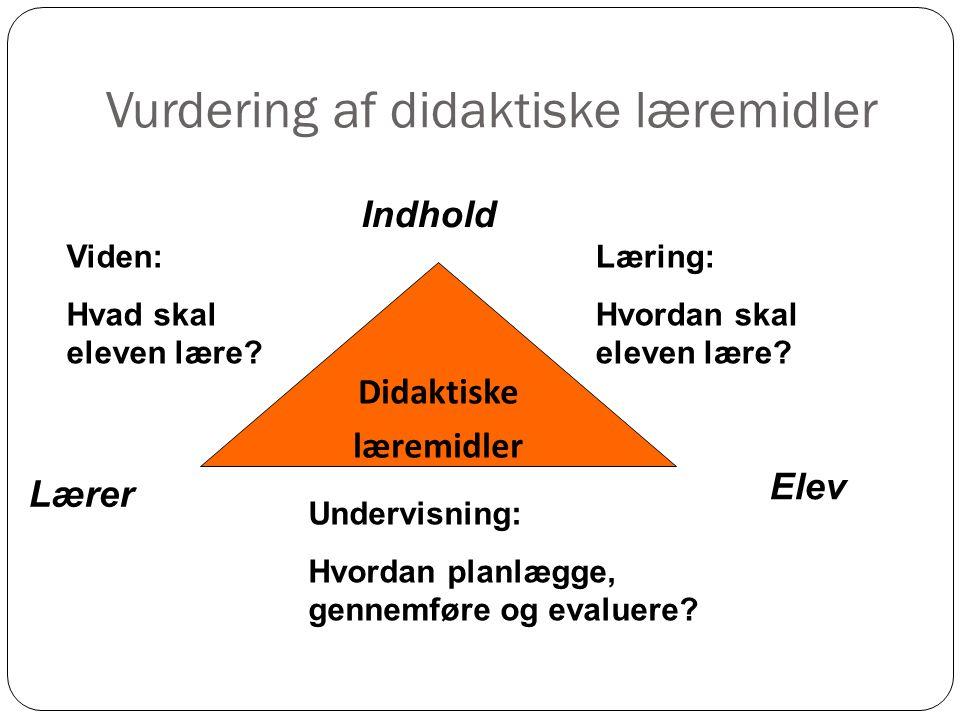 Vurdering af didaktiske læremidler